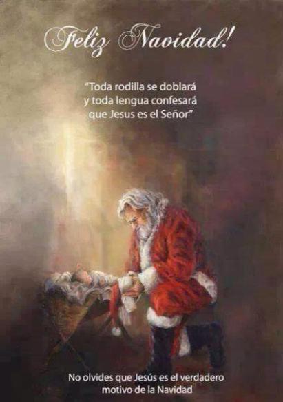Papa noel y el niño Jesus